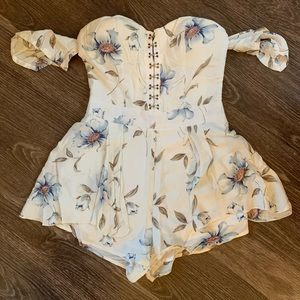 White Floral Romper Size S from LF!